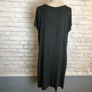 Lucy Dresses - LUCY gray cowl neck cotton shift dress. Medium